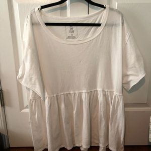 Free People / We The Free White Babydoll Top